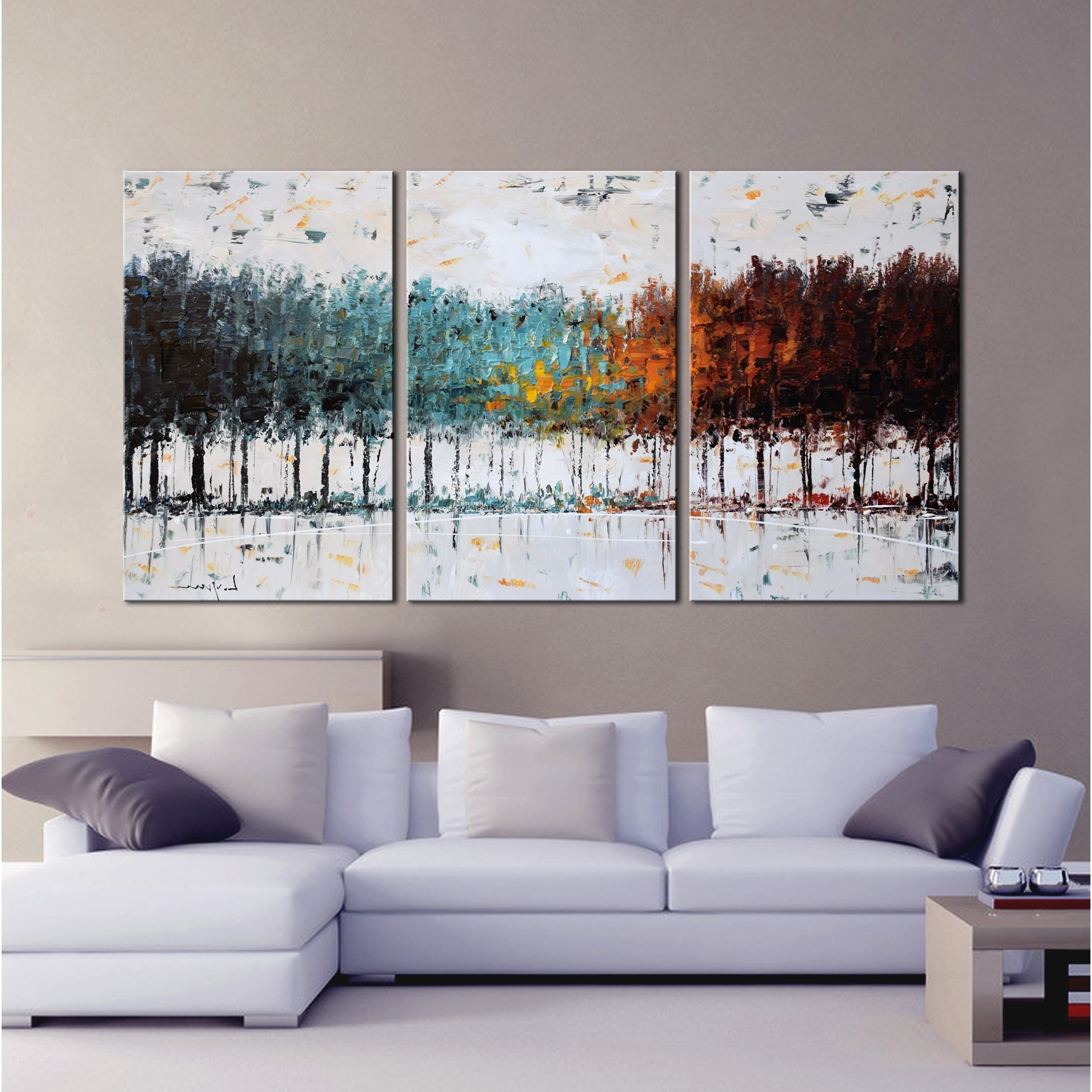 Overstock Wall Art With Latest Shop Clay Alder Home The Forest' Hand Painted Gallery Wrapped Canvas (View 7 of 15)
