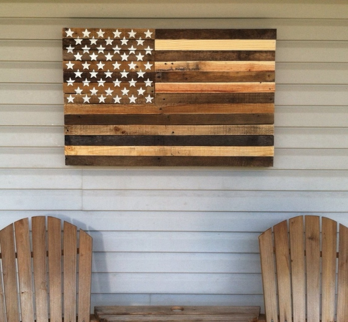 Pallet Wall Art Throughout Popular Wood Pallets Decorating Art Ideas Exclusive Wood Pallet Wall Decor (View 5 of 15)