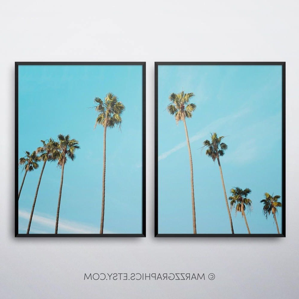 Palm Trees Printable, Palm Trees Print, Palm Trees Wall Art, Palm Inside Widely Used Palm Tree Wall Art (View 13 of 15)