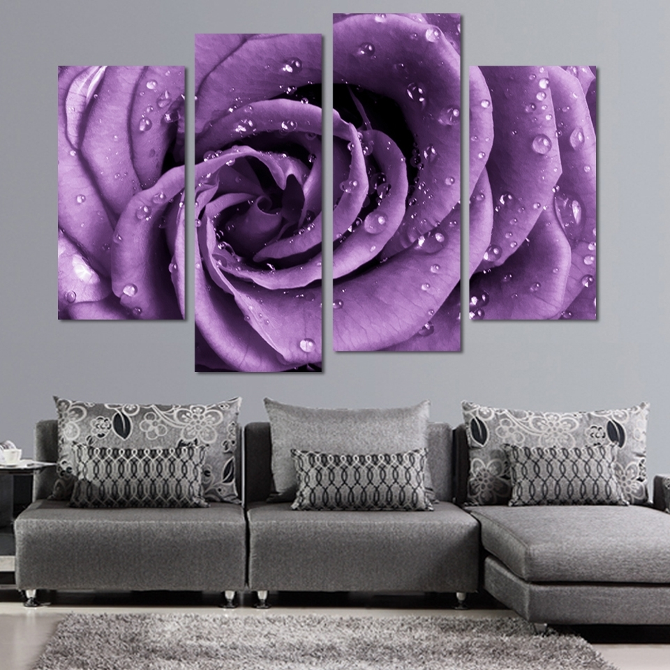 Panel Purple Canvas Wall Art : Andrews Living Arts – Pretty Purple For Most Recently Released Purple Wall Art (View 7 of 15)