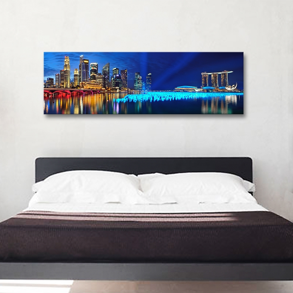Panoramic Wall Art Pertaining To Preferred Modern Canvas Print Painting Bedroom Wall Art Panoramic Landscape (View 11 of 15)