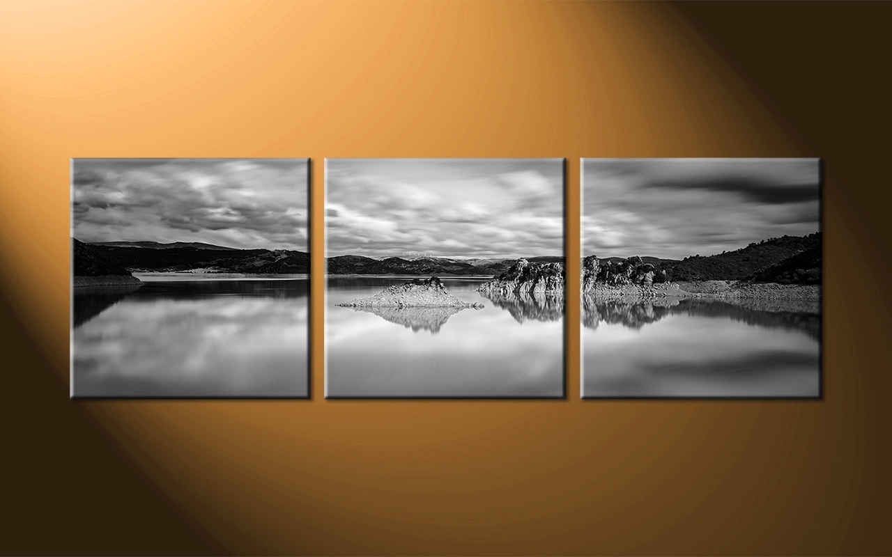 Panoramic Wall Art With Famous Ocean Black Panoramic Wall Art : Andrews Living Arts – Masculine (View 8 of 15)
