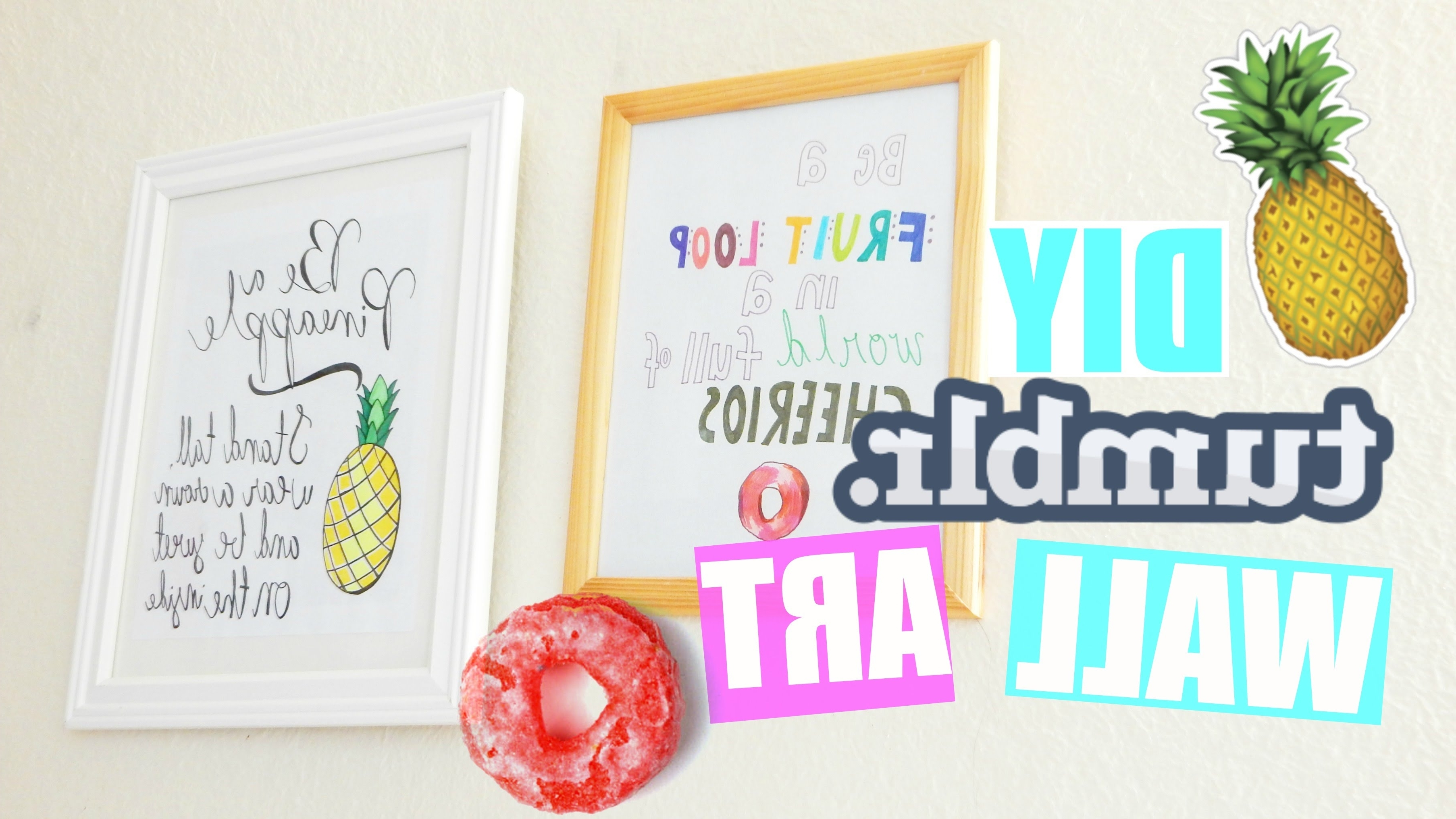 Pastelpandaz – Youtube Pertaining To Quote Wall Art (View 10 of 15)