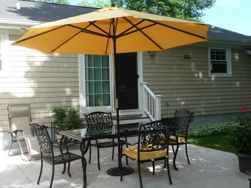 Patio: Awesome Umbrella Patio Set Frontgate Outdoor Furniture Throughout Recent Patio Sets With Umbrellas (View 11 of 15)