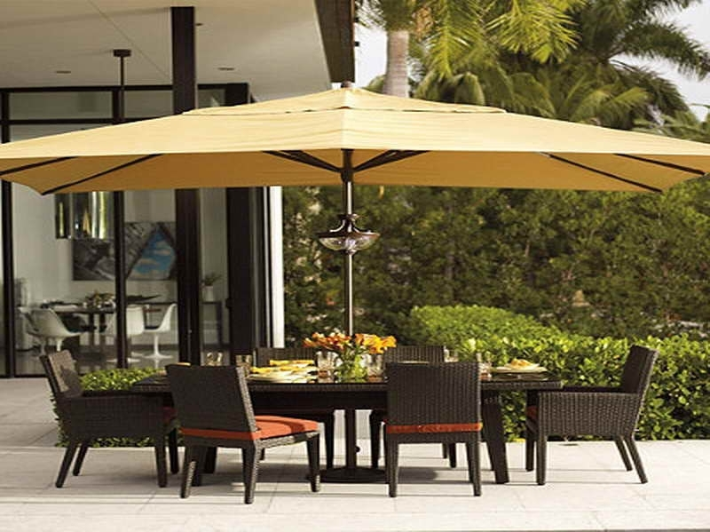 Patio: Awesome Umbrella Patio Set Frontgate Outdoor Furniture Within Current Patio Tables With Umbrellas (View 15 of 15)