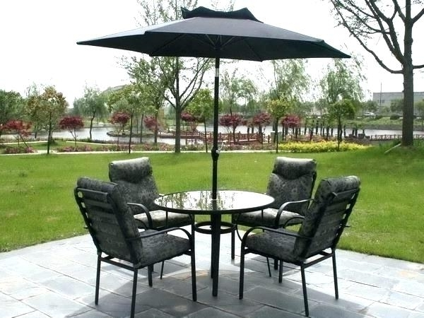 Patio Chair With Umbrella Patio Furniture Table With Umbrella Patio Regarding Well Known Patio Table And Chairs With Umbrellas (View 14 of 15)
