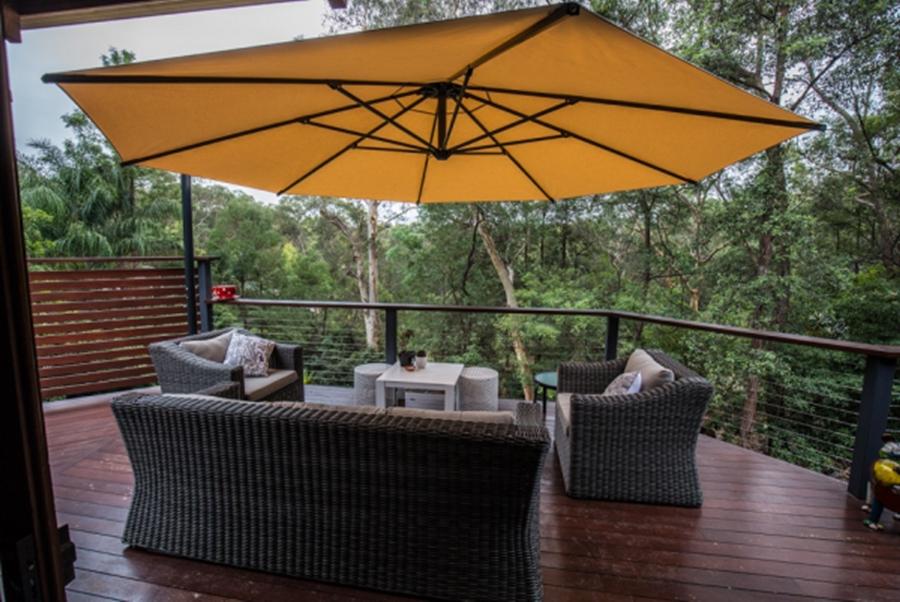 Patio Deck Umbrellas Pertaining To Recent Great Ideas Deck Umbrella Mount For Outdoor Furniture – Admashup Design (View 6 of 15)