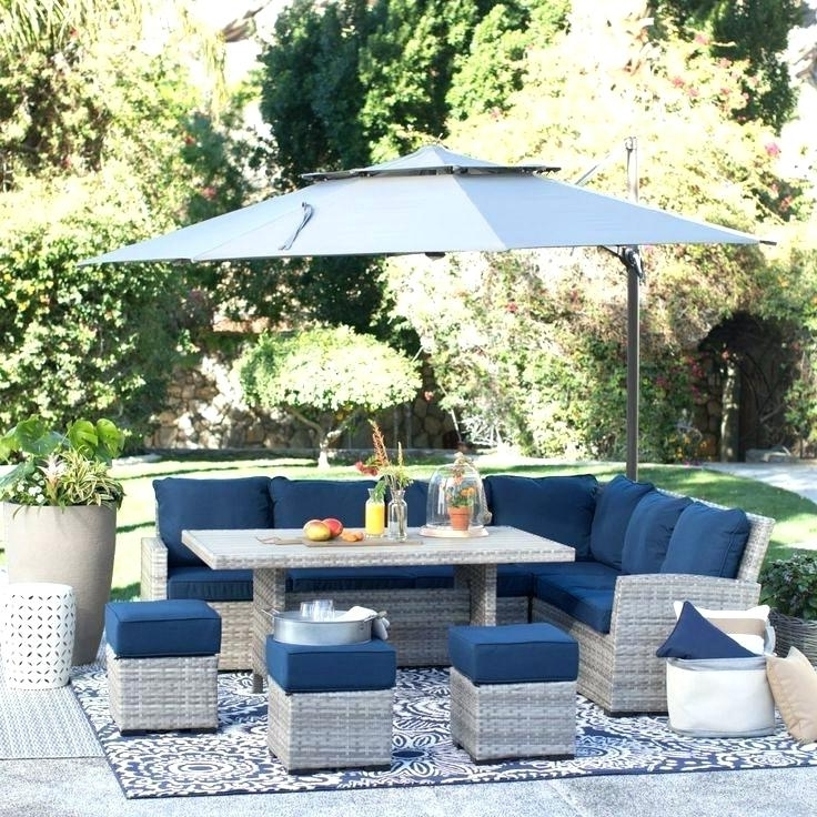 Patio Dining Sets With Umbrellas Regarding Well Known Outdoor Dining Table With Umbrella Hole Outdoor Dining Table With (View 14 of 15)