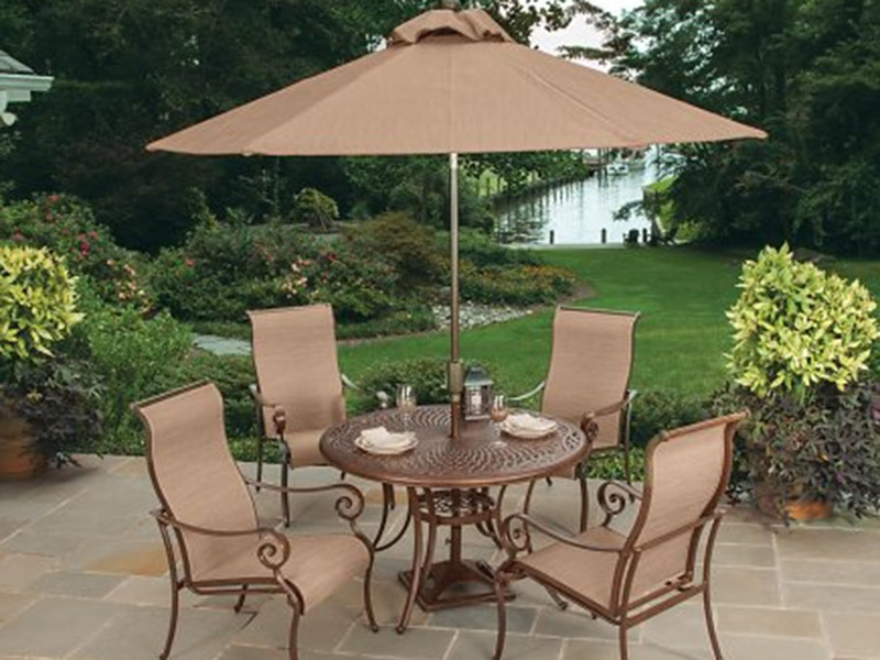 Patio Dining Umbrellas In Well Known Patio: Awesome Patio Dining Set With Umbrella Cheap Patio Sets With (View 11 of 15)