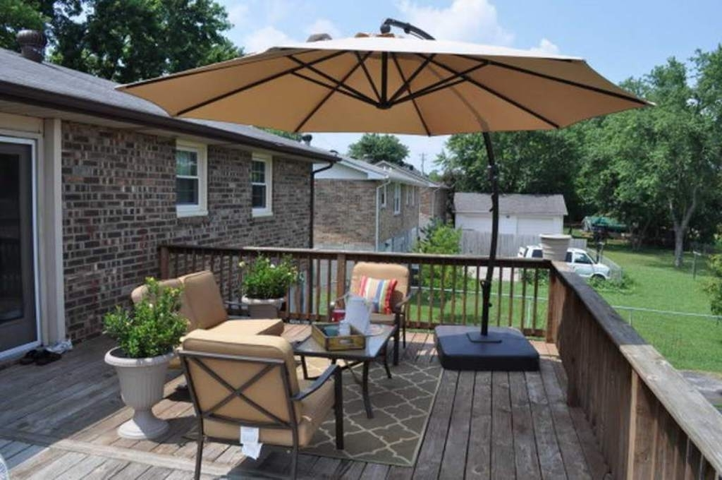 Patio Furniture Sets With Umbrellas Throughout Latest Patio Furniture Sets With Umbrella Accessories (View 11 of 15)