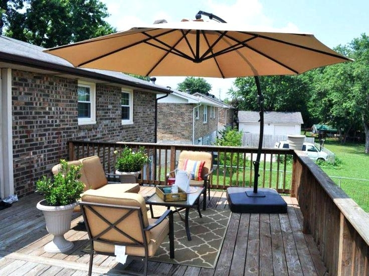 Patio Furniture With Umbrellas For Popular Patio Furniture With Umbrella Large Umbrella For Patio Lovable Large (View 9 of 15)