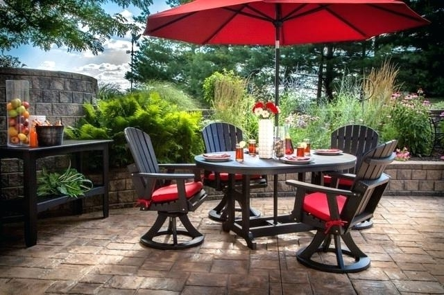 Patio Furniture With Umbrellas Intended For 2018 Decor Of Patio Furniture Umbrella Home Design Ideas 9 Best Sets With (View 8 of 15)