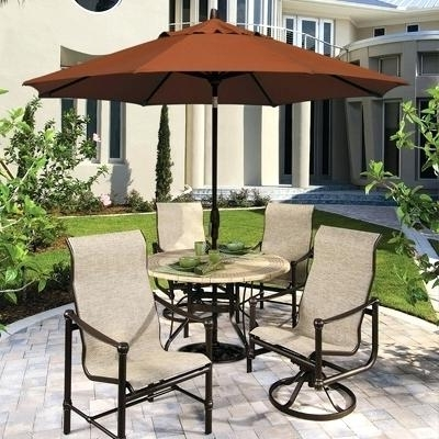 Patio Furniture With Umbrellas With Well Known Patio Furniture With Umbrella Leaders In Outdoor Comfort And Value (View 9 of 15)