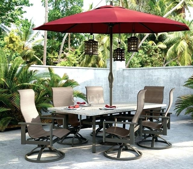 Patio Sets With Umbrellas Patio Furniture With Umbrella Perfect For Preferred Patio Tables With Umbrellas (View 11 of 15)