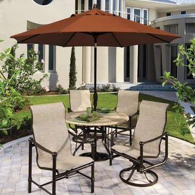 Patio Table And Chairs With Umbrellas Within 2017 Stunning Outdoor Dining Set With Umbrella Patio Table Chairs (View 11 of 15)