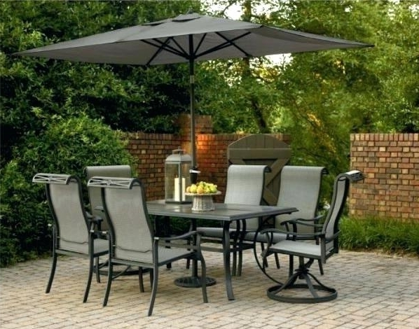 Patio Table Chairs Patio Furniture Folding Tables Outdoor Furniture Regarding Preferred Patio Table And Chairs With Umbrellas (View 12 of 15)