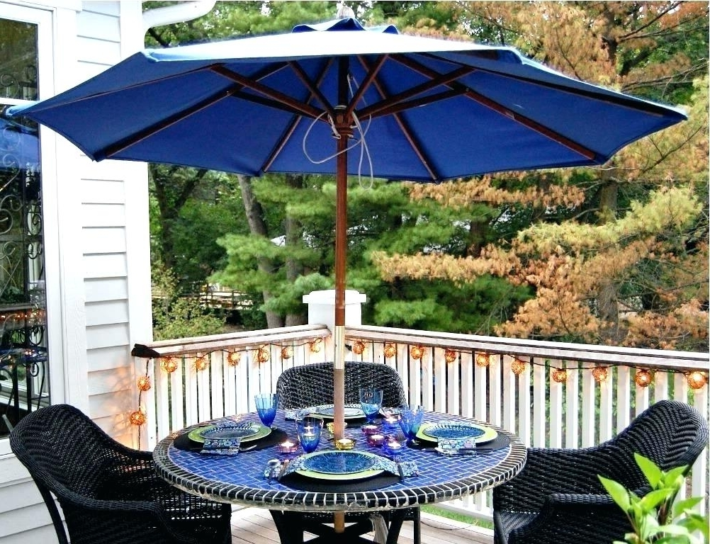 Patio Tables With Umbrella Hole For 2017 Patio Table Umbrella Hole Insert Patio Set With Umbrella Making Use (View 9 of 15)