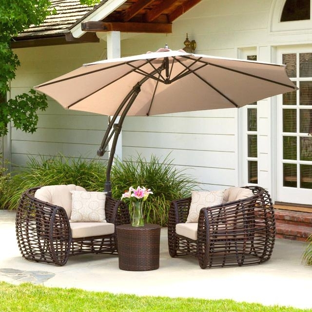Patio Tables With Umbrellas With 2017 Inspirational Patio Tables With Umbrellas For Outdoor Patio (View 13 of 15)