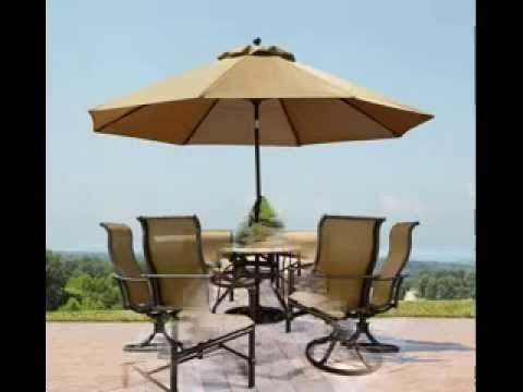 Patio Tables With Umbrellas With Regard To Famous Patio Umbrella Table – Decordiva Interiors (View 6 of 15)