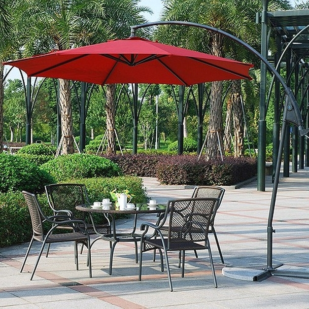 Patio Tables With Umbrellas Within Most Up To Date Great Patio Furniture Umbrella Backyard Remodel Images Patio (View 8 of 15)