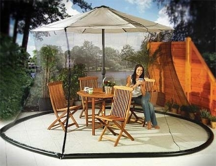 Patio Umbrella Mosquito Nets For Popular Patio Umbrellas With Netting (View 7 of 15)