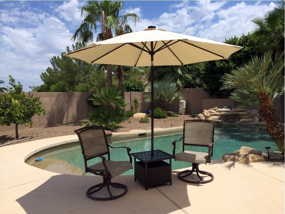Patio Umbrella Side Tables In 2017 Patio Umbrella Side Table Outdoor (View 15 of 15)
