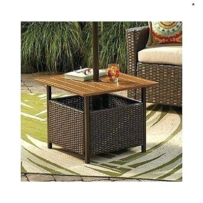 Patio Umbrella Side Tables In Preferred Lawn Umbrella Stand Patio Umbrella Stand Table New Wicker Umbrella (View 7 of 15)