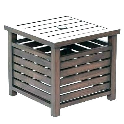 Patio Umbrella Stand Side Tables For Famous Side Table With Umbrella Hole Patio Set With Umbrella Patio Umbrella (View 15 of 15)