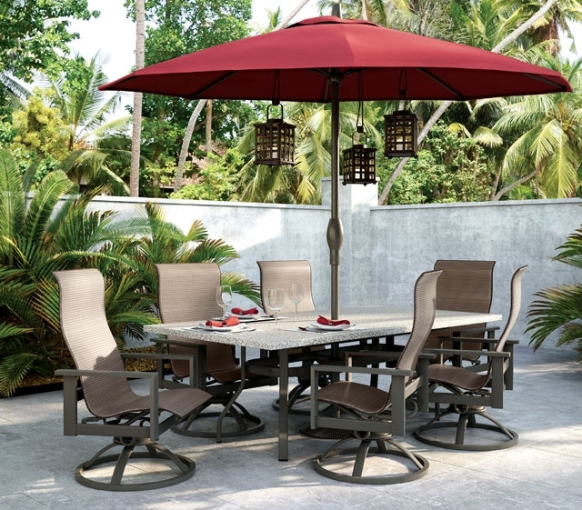 Patio Umbrellas For Bar Height Tables Within Most Up To Date Outdoor Patio Furniture (View 9 of 15)