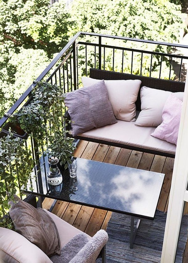 Patio Umbrellas For Small Spaces Throughout Popular Patio: Amazing Small Deck Furniture Patio Chairs Clearance, Modern (View 14 of 15)
