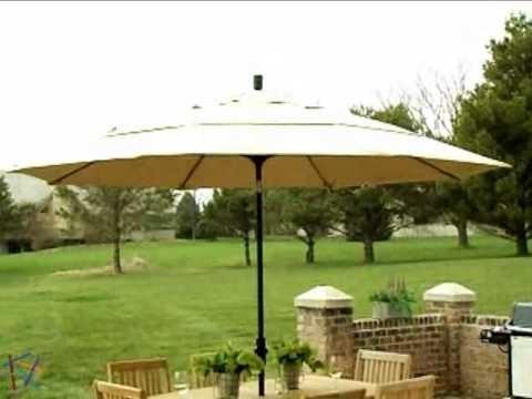 Patio Umbrellas For Windy Locations Regarding Widely Used California Umbrella 11 Ft Wind Resistant Patio Umbrella – Product (View 14 of 15)