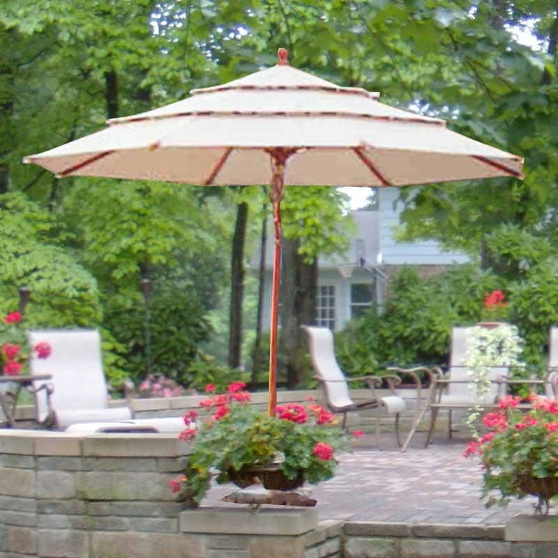 Patio Umbrellas From Costco Regarding Best And Newest Amazing Patio Umbrellas Costco Costco Replacement Umbrella Canopy (View 8 of 15)