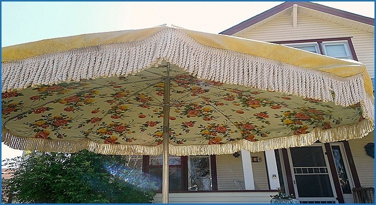 Patio Umbrellas, Luxury Throughout Trendy Vinyl Patio Umbrellas With Fringe (View 8 of 15)