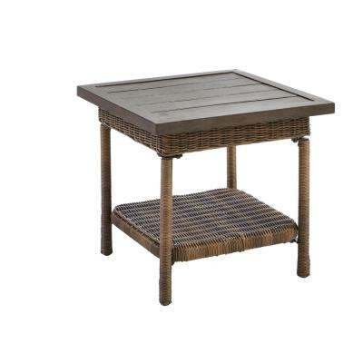 Patio Umbrellas With Accent Table With Most Up To Date Outdoor Side Tables – Patio Tables – The Home Depot (View 8 of 15)