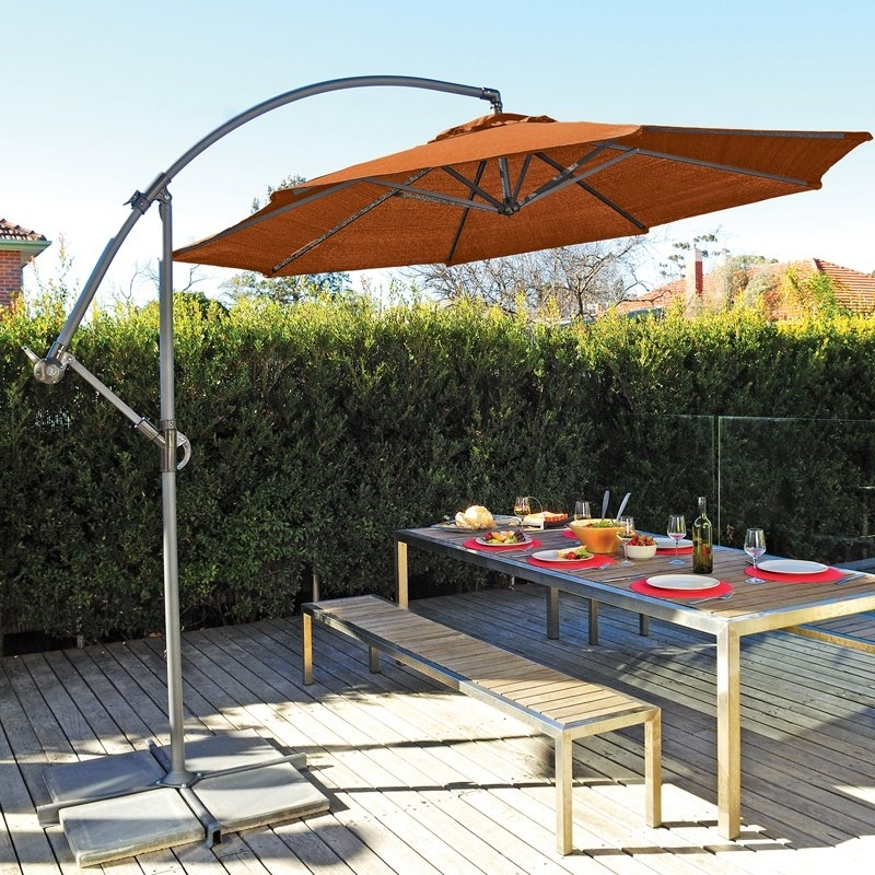 Patio Umbrellas With Fans Regarding 2018 Coolaroo 12 Ft (View 12 of 15)