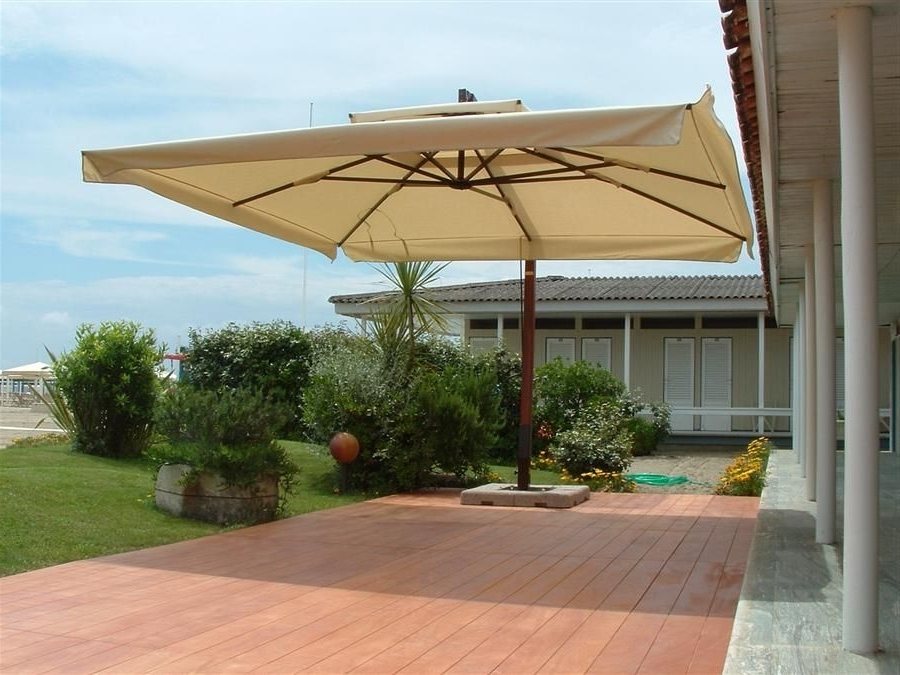 Patio Umbrellas With Fans Within Favorite Large Patio Umbrella Modern – Http://www (View 10 of 15)