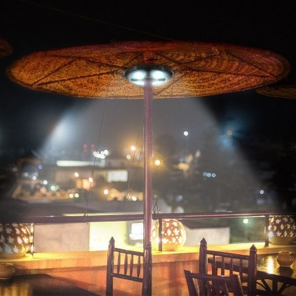 Patio Umbrellas With Lights Inside Famous Top Five Best Umbrella Lights (View 14 of 15)