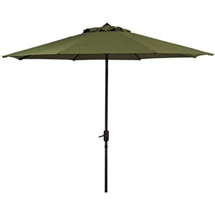 Patio Umbrellas With Sunbrella Fabric With Regard To Most Current Amazon : Bayside 21 9' Patio Umbrella With Sunbrella Fabric Auto (View 11 of 15)