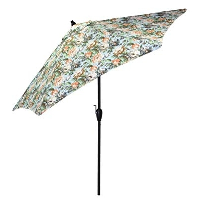 Patterned Patio Umbrellas Inside Trendy Amazon : Plantation Patterns 9 Ft (View 8 of 15)