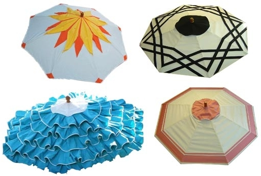 Patterned Patio Umbrellas Pertaining To Famous Modern Home Design Ideashonoriag: Shade Yourself From The Sun (View 7 of 15)