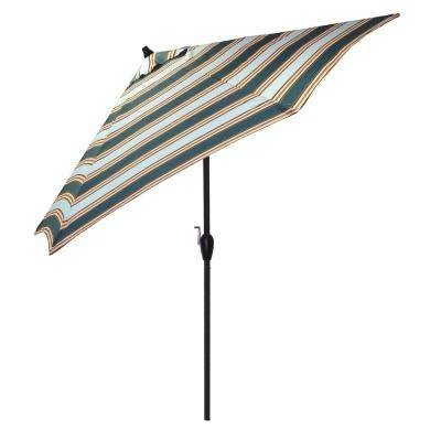 Patterned Patio Umbrellas Throughout Trendy Green – Plantation Patterns – Patio Umbrellas – Patio Furniture (View 8 of 15)
