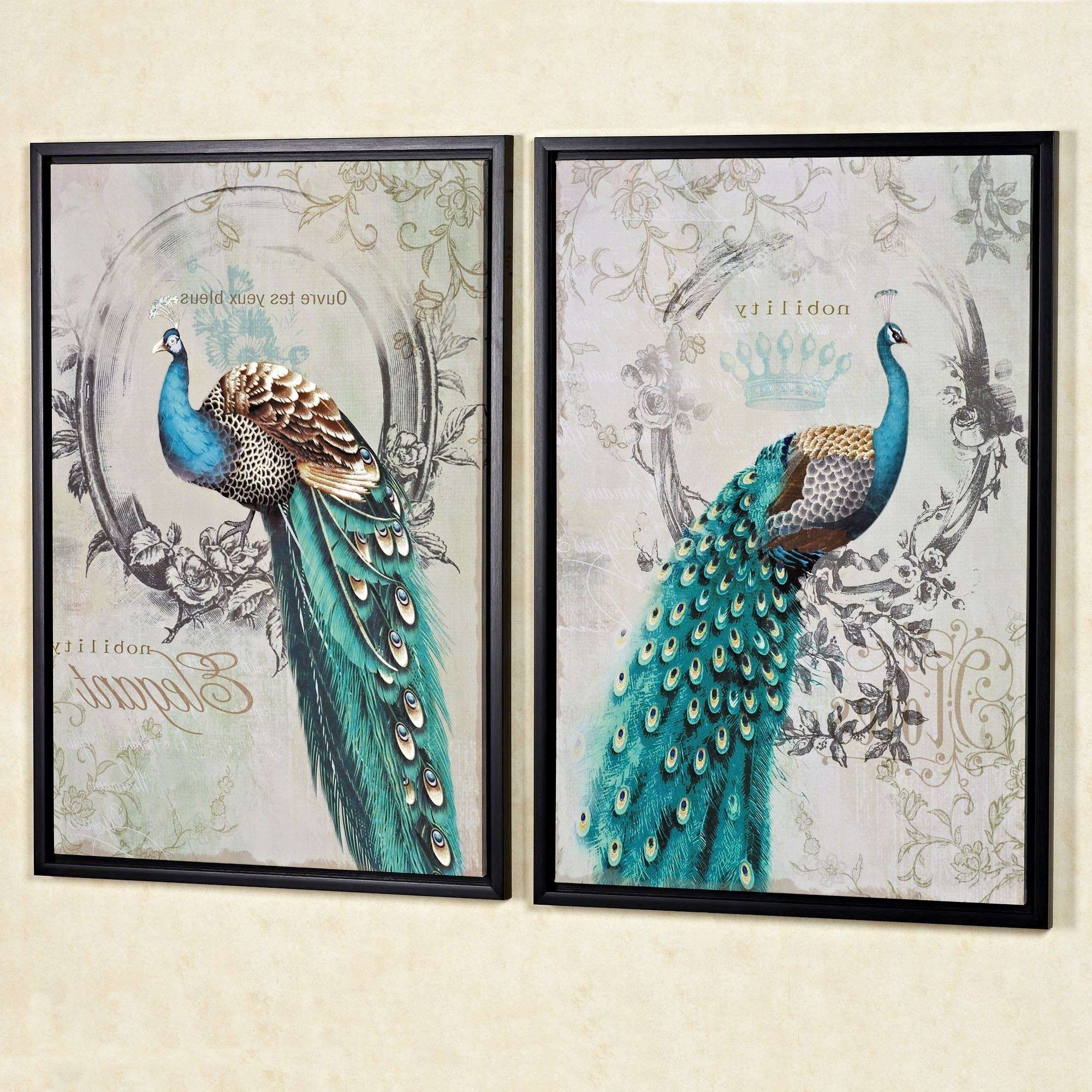 Peacock Bedroom Ideas Awesome Lovely Peacock Wall Art Inspiration Inside Most Current Peacock Wall Art (View 5 of 15)
