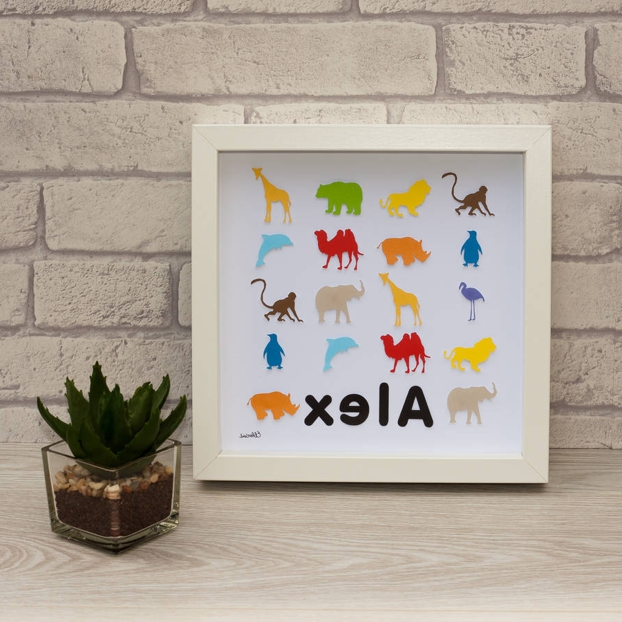 Personalised Framed 3D Zoo Animal Paper Wall Artframeserika Inside Fashionable Paper Wall Art (View 12 of 15)