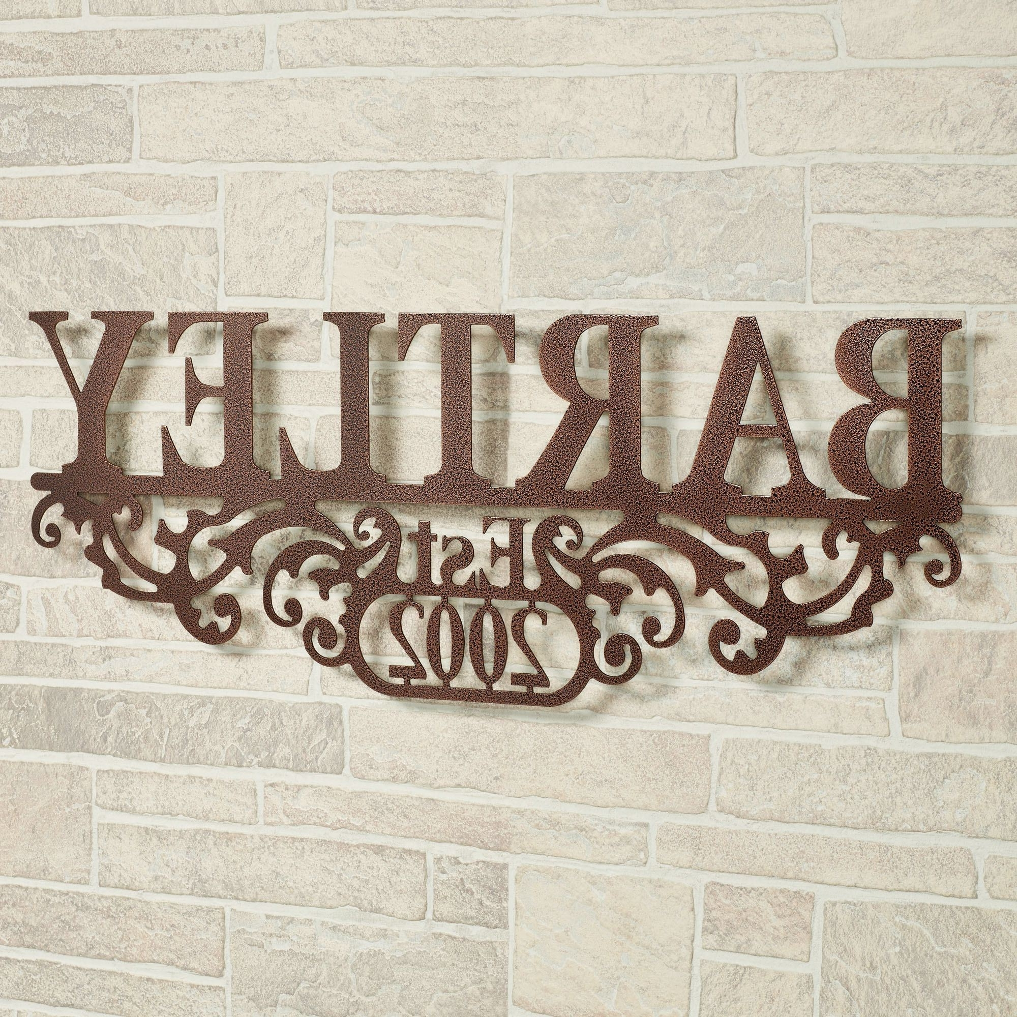 Personalized Metal Wall Art for Popular Kinship Copper Family Name And Year Personalized Metal Wall Art Sign