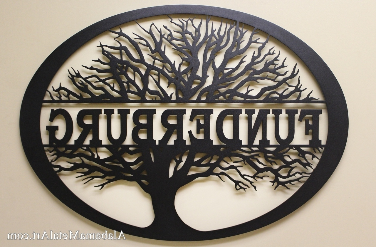Personalized Metal Wall Art Intended For Recent Family Tree Personalized Metal Wall Art, Family Metal Wall Art (View 10 of 15)