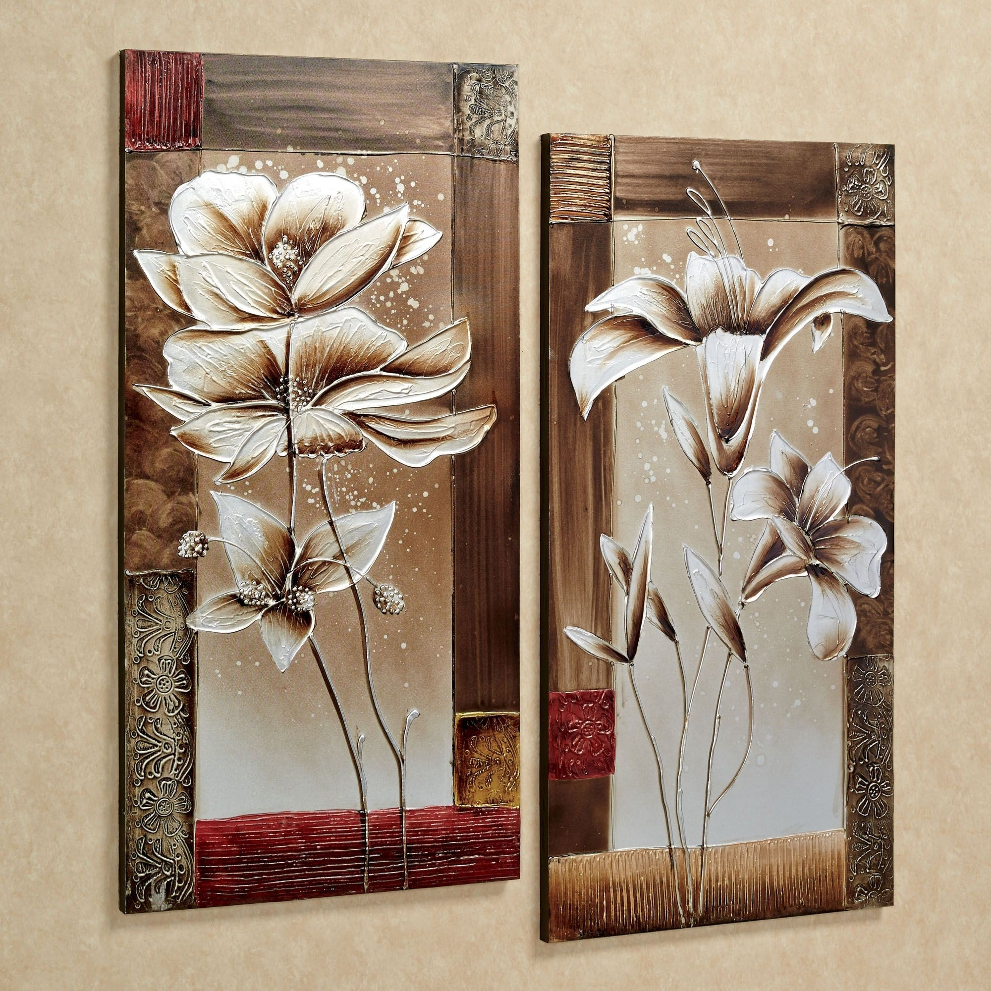 Petals Of Spring Floral Canvas Wall Art Set Pertaining To 2017 Wall Art Sets (View 6 of 15)