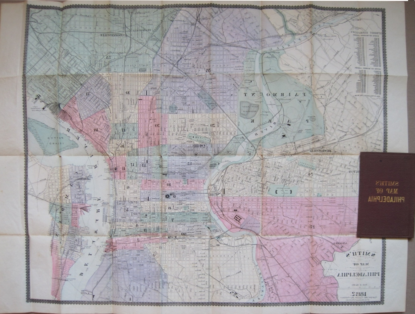 Philadelphia Map Wall Art Throughout Well Liked Antique Maps Of Philadelphia And Environs (View 10 of 15)