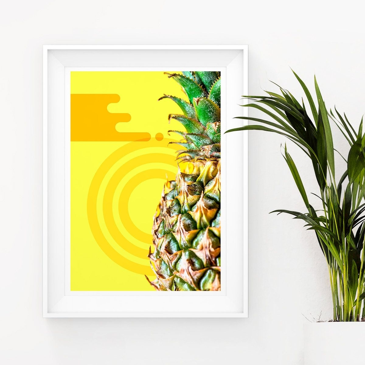 Pineapple Printable Art, Memphis Design, Photography Poster With Regard To Most Current Tropical Wall Art (View 15 of 15)