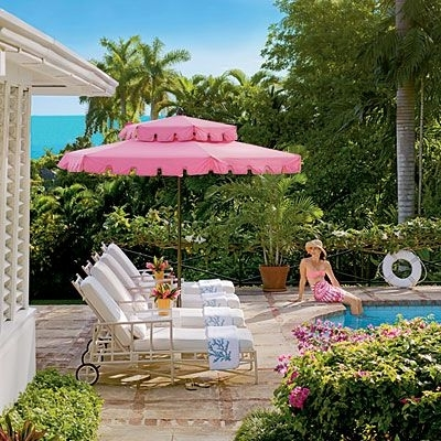 Pink Patio Umbrellas Intended For Most Recent Pink Patio Umbrella – Darcylea Design (View 8 of 15)
