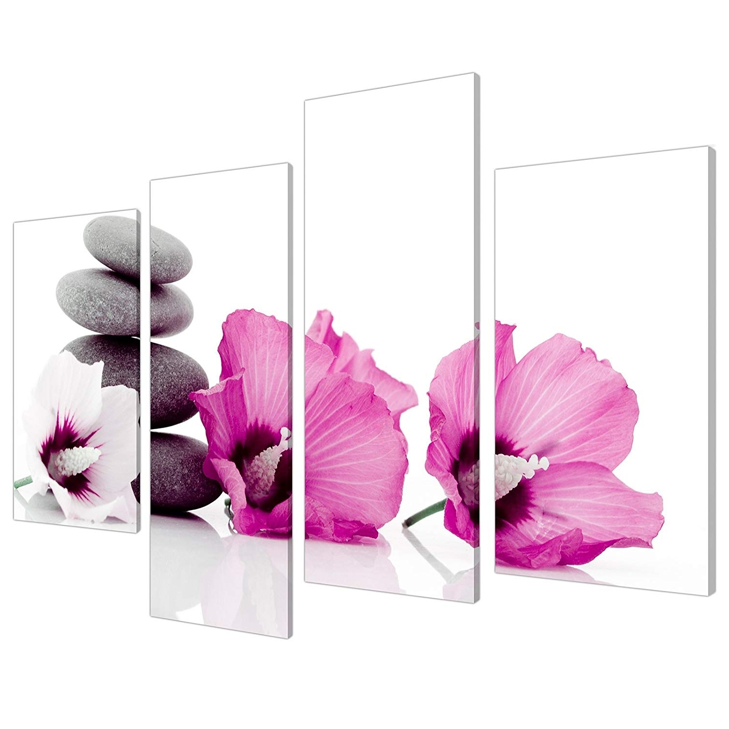 Pink Wall Art For 2017 Large Pink Flower Floral Canvas Wall Art Pictures 130Cm Set Xl  (View 11 of 15)